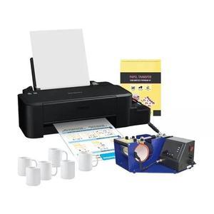 Impressora l120 + prensa de caneca + papel transfer