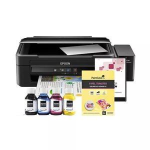 Impressora l380 sublimática + papel + tinta + perfil de cor