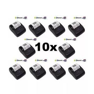Kit 10x mini impressora térmica via bluetooth portátil