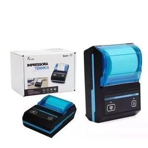 Kit 15 mini impressora portatil bluetooth termica 58mm