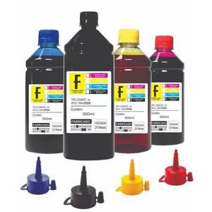 Kit recarga 4 x 500ml epson impressora l355 l365 l375 l395