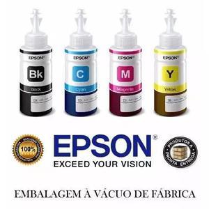 Kit refil tinta original epson p/ impressora l120 l380 l395