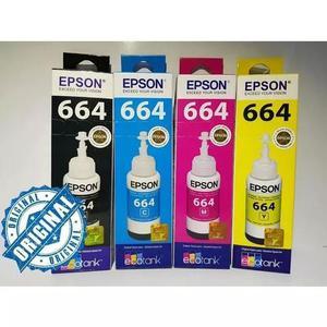 Kit tinta epson original 664 l365 l375 l380 l395 l455 l1300