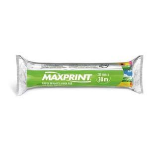 4 bobinas de papel térmico para fax - maxprint 215mm x 30m