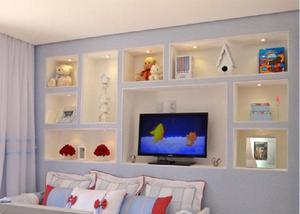 Drywall paredes e forros de gesso decorados