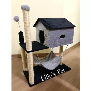 Arranhador de gato casa com rede