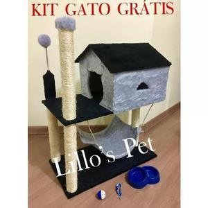 Arranhador gato casa com rede grande kit gato