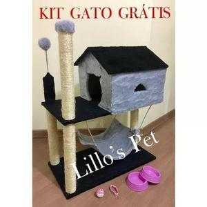 Arranhador gato casa com rede kit gato