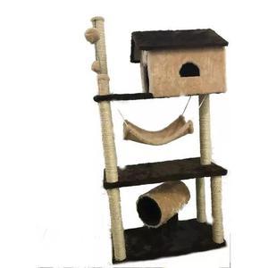 Arranhador house 3 andares para gatos pelucia e sisal