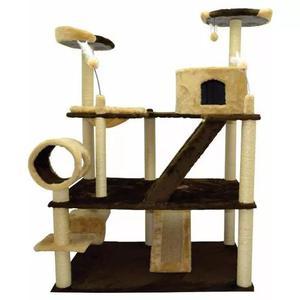 Arranhador olimpus gigante gato 3 plataformas + toca + rampa