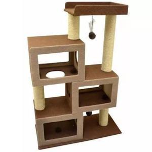 Arranhador para gatos bigben castelo carpete marrom sao pet
