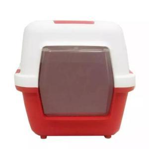 Banheiro De Gato Cat Toilette Medidas 55x40x40 Cm Vermelho