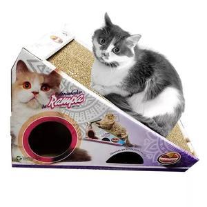 Brinquedo gato arranhador rampa papelão com bolinha (0081)