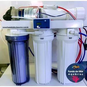 Filtro reverse osmose 100gpd deionizador +bomba +tds inline
