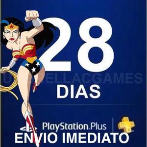 Playstation psn plus 28 dias - ps4 - envio imediato