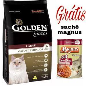 Ração golden gatos castrados 10kg. carne
