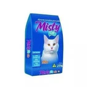 Ração p/ gatos misty cat 25kg