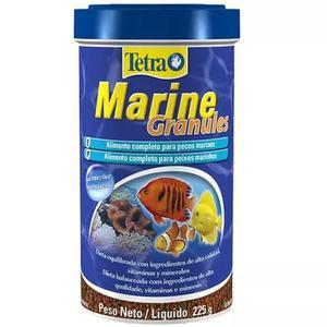 Ração tetra marine granules 225g peixes marinhos