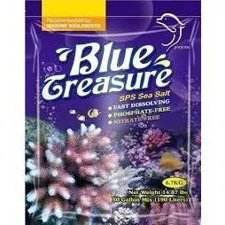 Sal blue treasure sps saco 6,7kg (para aquário com corais)