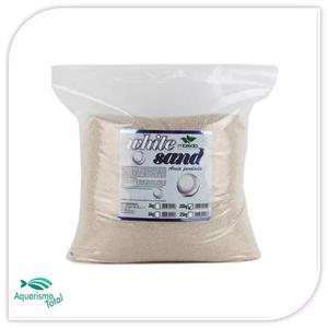 Substrato mbreda areia perolada white sand 20kg p aquários