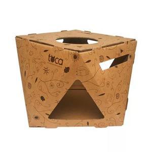 Toca - caixa de papelão para gatos - hello pets