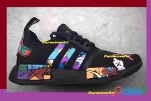 Tênis adidas nmd   kaws black