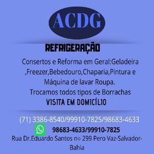 Acdg refrigeração conserto de geladeira
