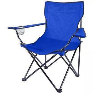 Cadeira camping pesca dobrável praia porta copo e sacola