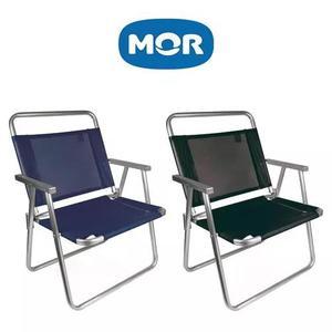 Cadeira de praia oversize alumínio mor - suporta 140kg