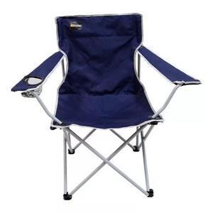 Cadeira dobrável nautika camping pesca alvorada + bolsa