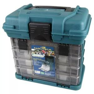 Caixa para pesca 4 gavetas ntk mb1 com divisória ajustável