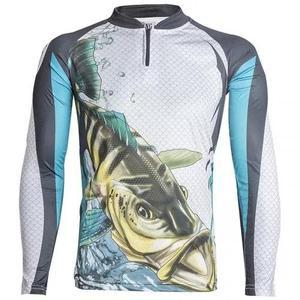 Camiseta de pesca proteção solar uv king kff19 tucunaré