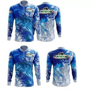 Camiseta de pesca proteção solar uv tucunaré lançamento