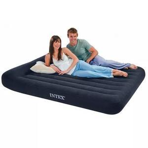 Colchão inflável casal com travesseiro