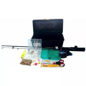 Kit de pesca pescaria completa vara molinete e itens barato