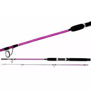 Kit pesca rosa - vara 1,50m + molinete carina 2000