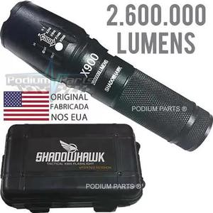 Lanterna led x900 tatica recarregável shadowhawk original