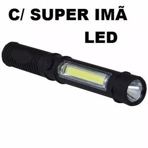 Lanterna luminaria super imã led com clip, pescaria,