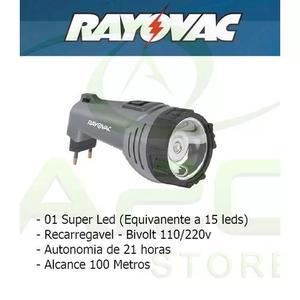 Lanterna rayovac recarregavel 1 super led = 15 bivolt tatica