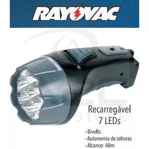 Lanterna recarregavel 7 leds bivolt 127v / 220v rayovac