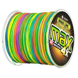 Linha multifilamento max 500m colorida cor muda de 1m