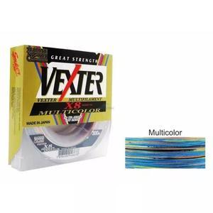 Linha multifilamento vexter x8 multicolor 0.29mm 40lb 300m