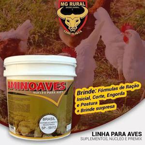 Aminoaves - aves, frangos 05kg 118,89 frete gratis + brinde
