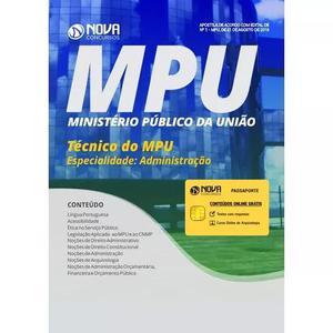 Apostila mpu 2018 técnico do mpu especialidade: