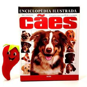 Livro enciclopédia ilustrada cães 114 raças (loja do zé)
