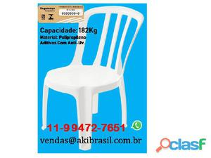 Cadeiras plástica super resistentes