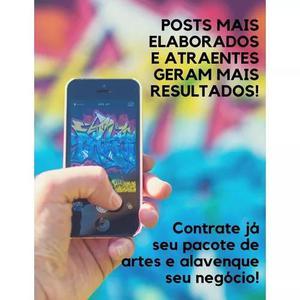 Pacote de artes personalizado para instagram e facebook