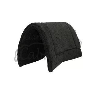 Pelego preto sintético muito confortável selaria cabanha