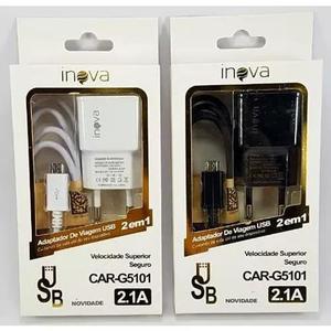 20 carregador usb + cabo v8 inova original 2a atacado (086)