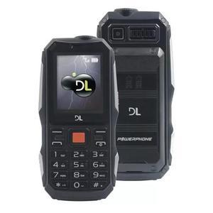 Celular dl power phone, dual chip, bateria e lanterna power.